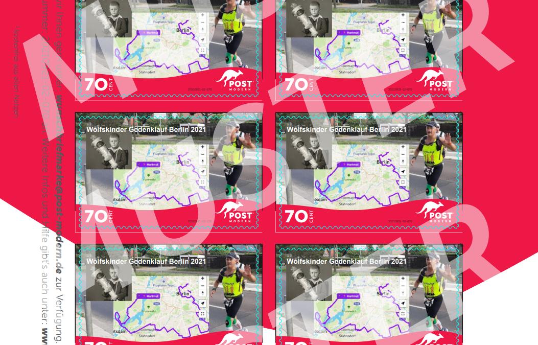 Briefmarke zum Gedenklauf für die Wolfskinder